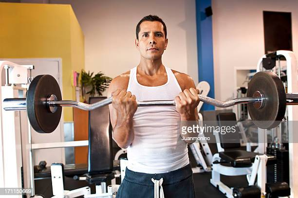 hispanic man exercising - handsome mexican men stock pictures, royalty-free photos & images