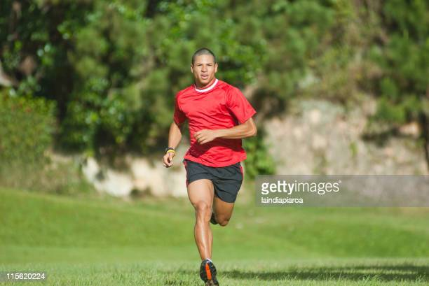 Hispanic man running