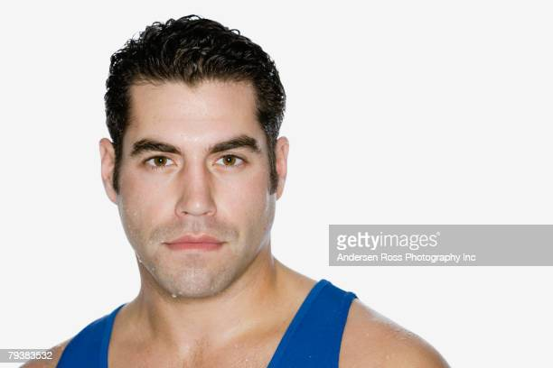 hispanic man with sweat on face - sideburn stock pictures, royalty-free photos & images