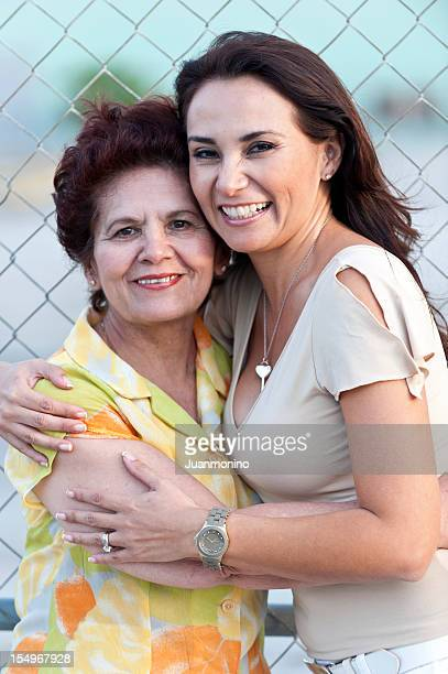 hispanic mother and daughter - mexican mothers day stock photos and pictures