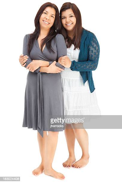 hispanic mother and daughter - beautiful mexican girls stock photos and pictures