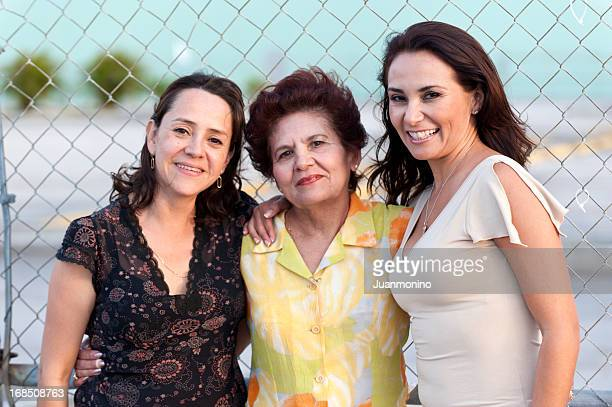 Hispanic mother and daughters