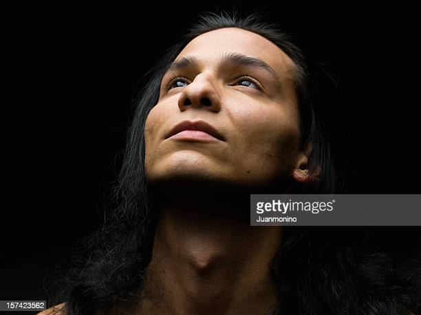 Hispanic or Native american male model