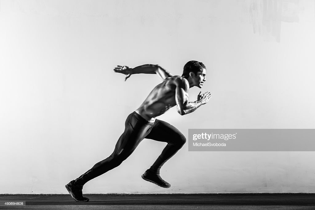 Hispanic Runner : Stock Photo