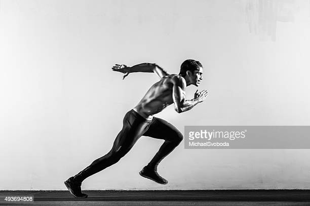 hispanic runner - black and white stock pictures, royalty-free photos & images