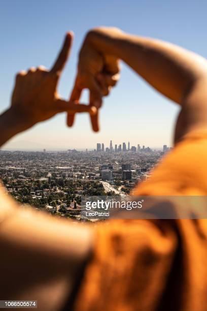 Hispanic tourist in Los Angeles - California