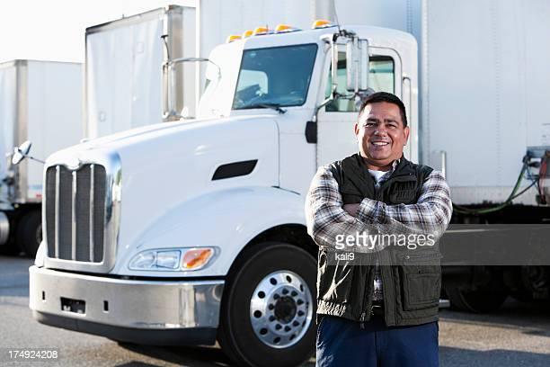 Hispanic truck driver