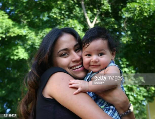 Hispanic Woman and Baby