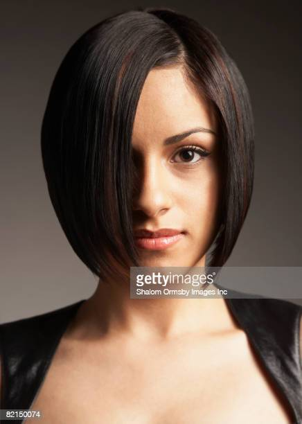 Hispanic woman with bob hairstyle