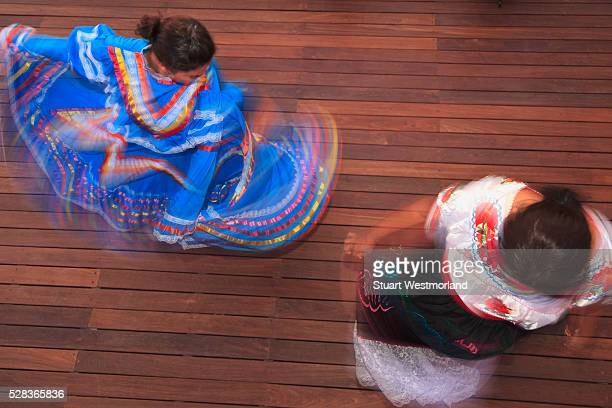 Hispanic Women In Traditional Folkloric Dresses Guaycura Boutique Hotel And Spa; Todos Santos Baja California Mexico