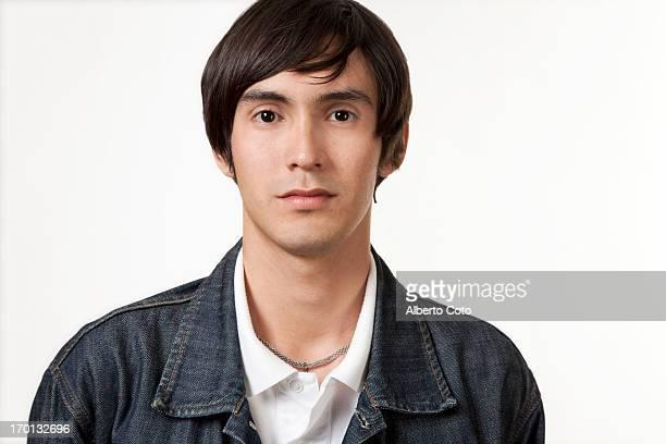 Hispanic young man, studio portrait
