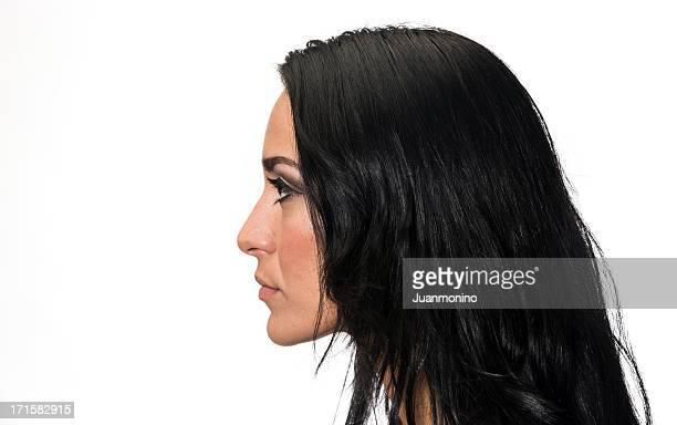 Profil de jeune femme hispanique