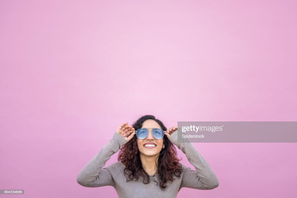 Hispanic Young woman with Positive Attitude : Stock Photo