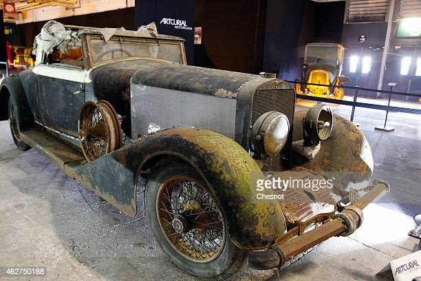 Hispano Suiza H6B cabriolet from the Baillon collection is displayed for auction during the Retromobile show on February 04 in Paris France This car...