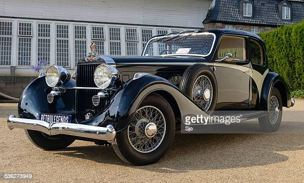 hispano suiza k6 vanvooren classic car - hispano suiza stock photos and pictures