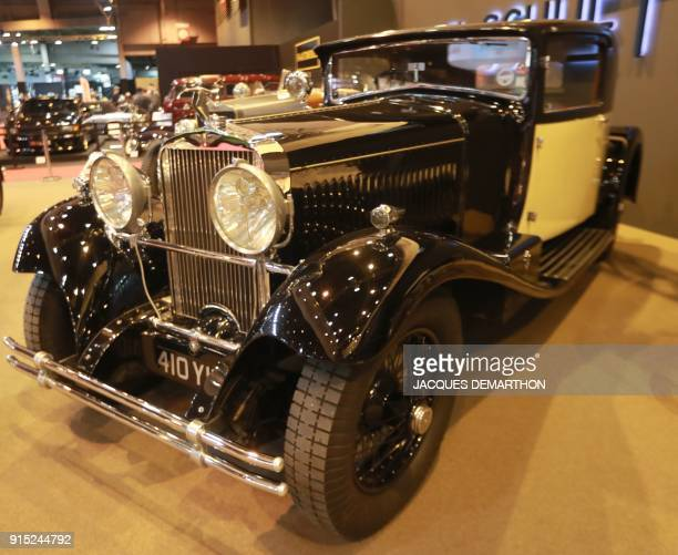 A HispanoSuiza H6C 8 Litre Van Vooren Coupé from 1927 is seen on display at Retromobile an exhibition of vintage motor vehicles at Paris Expo in...