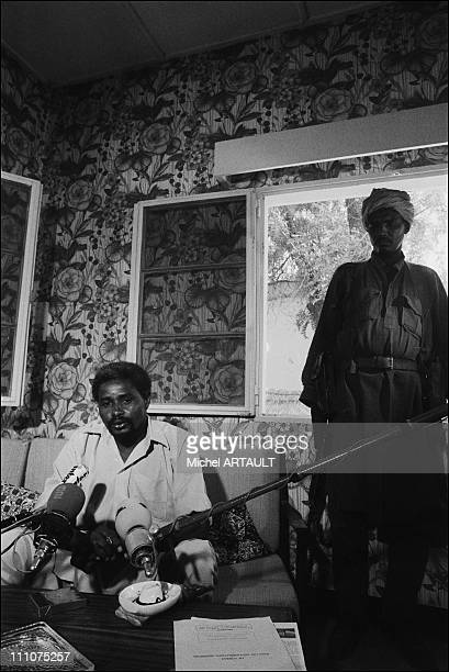 Hissein Habre Announces the cease fire in N'Djamena, Chad on April 07th, 1980.