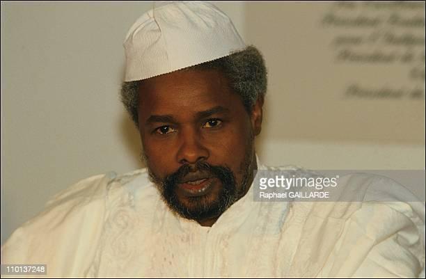 Hissein Habre in N'Djamena, Chad on January 16, 1987.