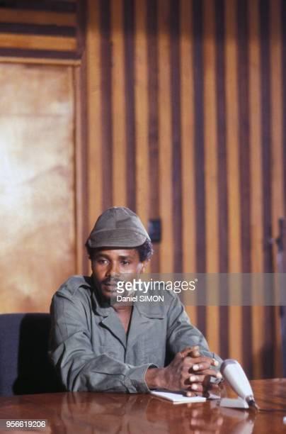 Hissène Habré en février 1979 au Tchad.