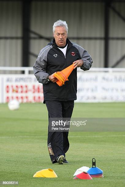 Histon coach John Beck prior to the PreSeason Friendly Match between Histon and Northampton Town at The Glassworld Stadium on July 14 2009 in Histon...