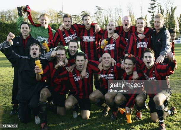 Histon FC celebrate after their 20 win over Shrewsbury Town during the FA Cup first round match between Histon FC and Shrewsbury Town at The Bridge...