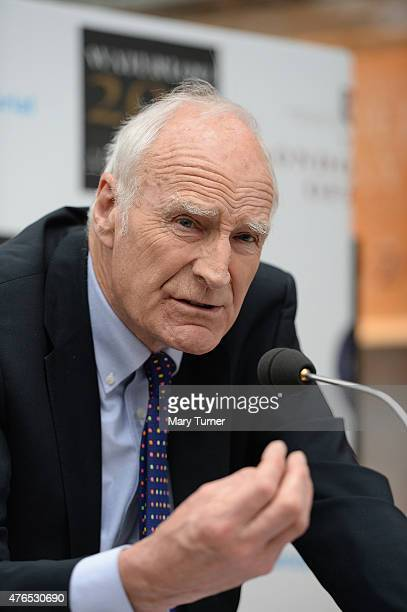 Historian and television presenter Peter Snow describes the Battle of Waterloo for a crowd of guests at the unveiling of a memorial plaque to the...