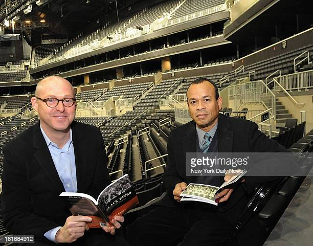 Historian Claude Johnson and Forest city Ratner's David Berliner are ready to unveil the exhibit that will become permanent fixture at Barclays...