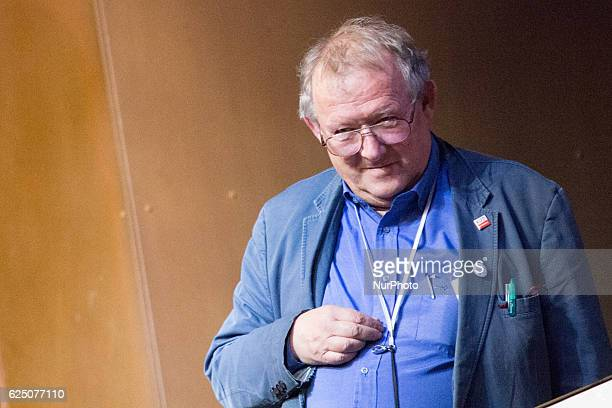 Historian essayist former dissident public intellectual and the editorinchief of Poland's largest newspaper Gazeta Wyborcza Adam Michnik meets...