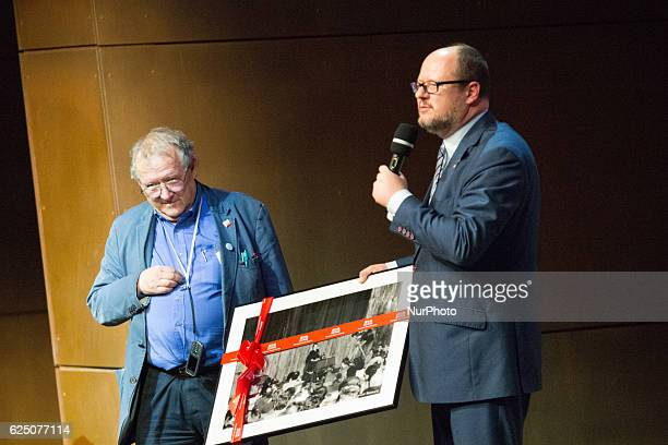 Historian essayist former dissident public intellectual and the editorinchief of Poland's largest newspaper Gazeta Wyborcza Adam Michnik meets...