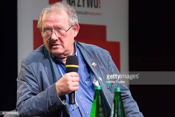 Historian essayist former dissident public intellectual and the editorinchief of Poland's largest newspaper Gazeta Wyborcza Adam Michnik gives a...