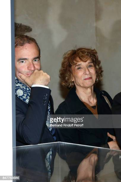 Historian Franck Ferrand attends Members of the Stephane Bern's Foundation for 'L'Histoire et le Patrimoine' visit the 'College Royal et Militaire'...
