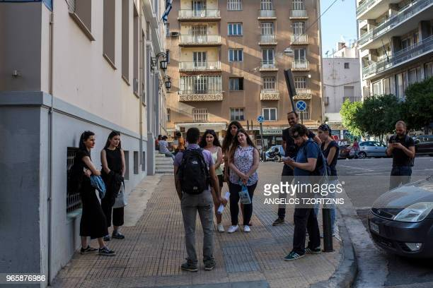 Historian Nicolas Nicolaides gives a walking tour of landmarks of samesex love in Athens on June 1 from antiquity to the early 20th century part of a...