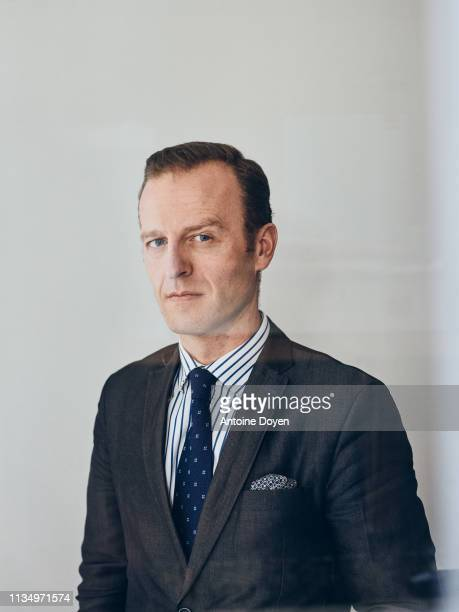 Historian Thomas Gomart poses for a portrait on February 21 2019 in Paris France