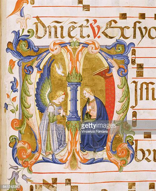 Historiated Initial with an Annunciation Scene