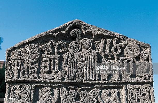 Historiated tombstone known as Khachkar Armenia Detail