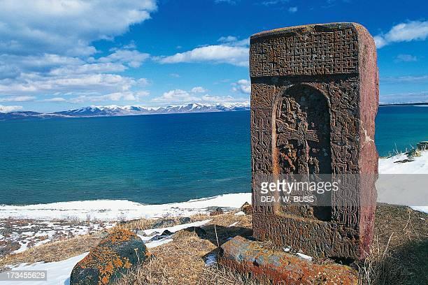 Historiated tombstone known as Khachkar Hayravank Gegharkunik Armenia