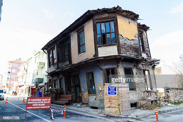 historic abandoned house - edirne stock pictures, royalty-free photos & images