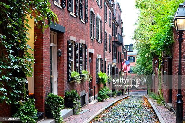 Historic Acorn Street, Beacon Hill, Boston
