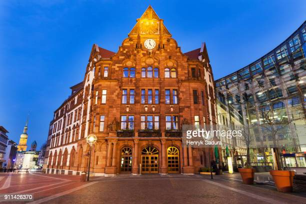 historic altes stadthaus on friedensplatz in dortmund - dortmund city stock pictures, royalty-free photos & images