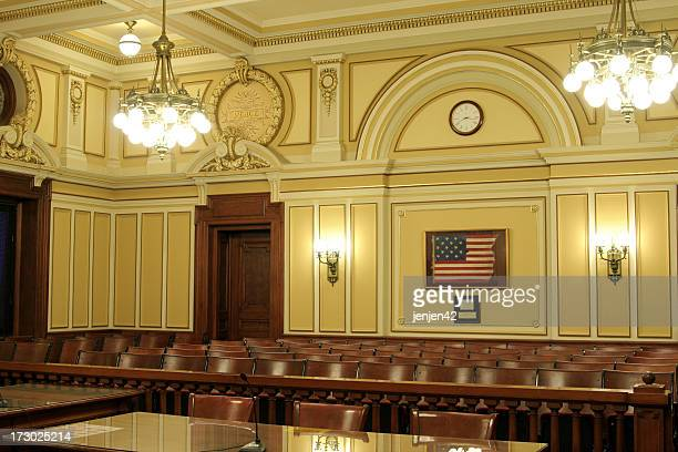 historic american courtroom - dekalb stock photos and pictures
