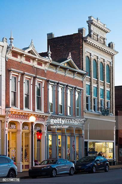 Historic architecture in small town USA