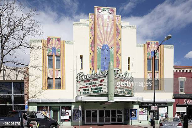 Historic art deco Boulder Theater, Colorado