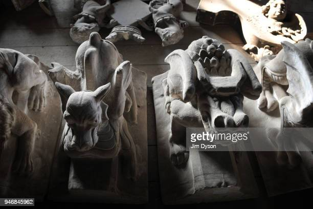 Historic artefacts are stored in the medieval Triforium above the nave of Westminster Abbey before it underwent major redevelopment work on August 23...
