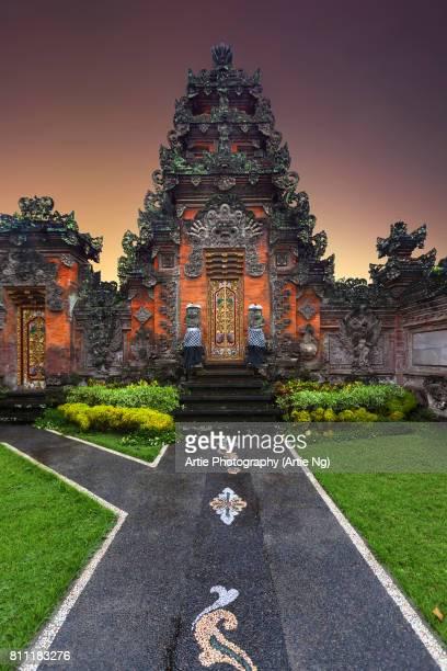 Historic Balinese Architecture Gate in Ubud, Bali Gianyar, Indonesia
