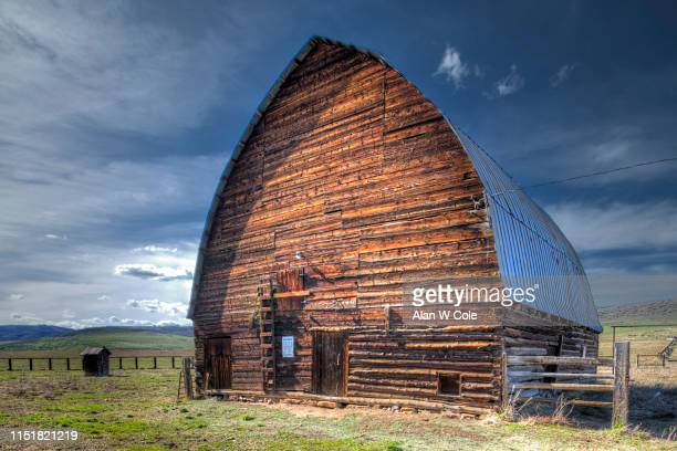 historic barn, colorado - steamboat springs colorado stock photos and pictures