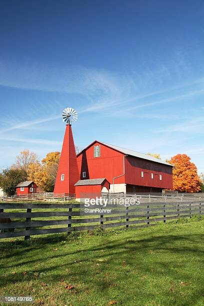 historic barn scene 2, huber heights, dayton, ohio - ohio stock photos and pictures