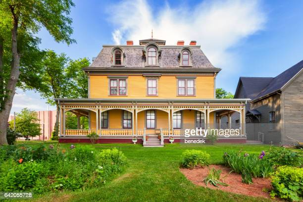 historic beaconsfield house in charlottetown prince edward island canada - history stock pictures, royalty-free photos & images