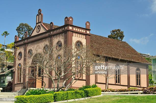 historic brown house - old town san diego stock pictures, royalty-free photos & images