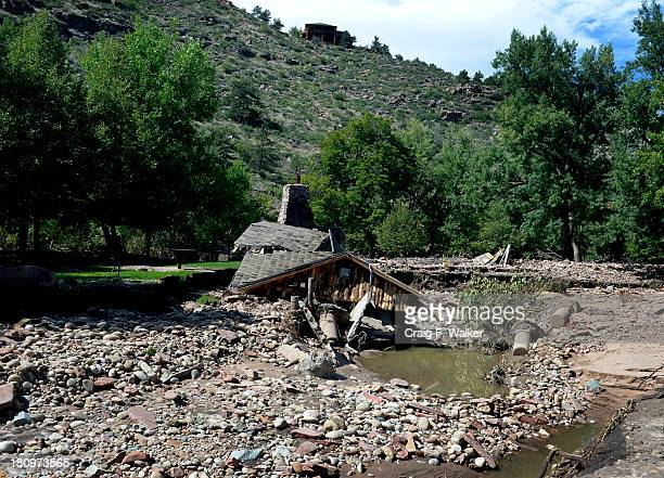 A historic building dating back to the 1800's was destroyed by flooding in Meadow Park in Lyons CO September 18 2013 Business owners were allowed to...