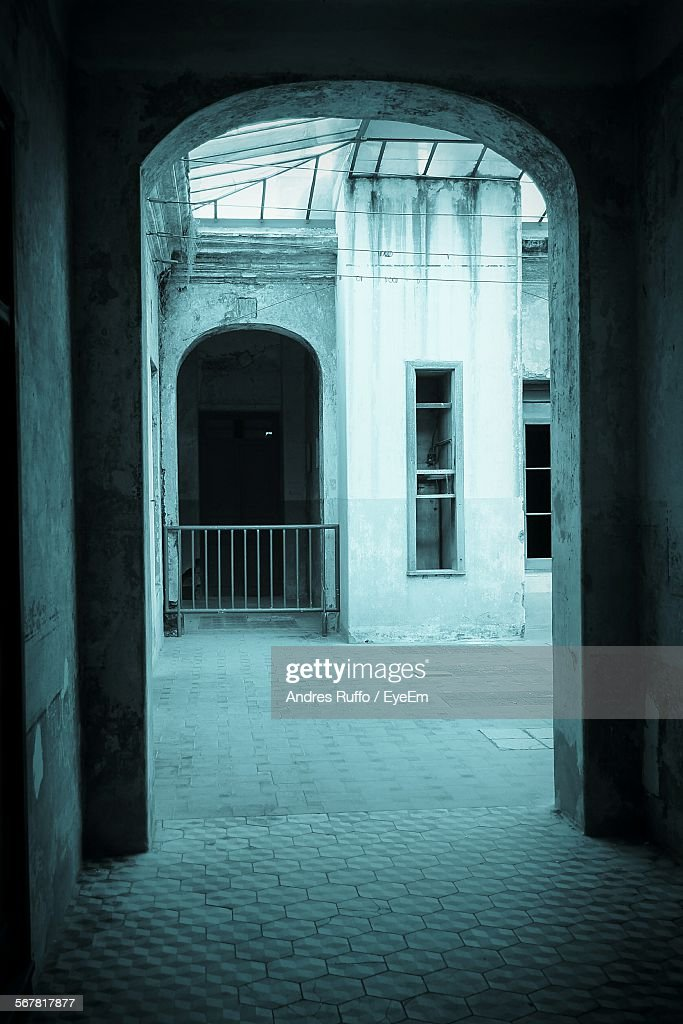 Historic Building Seen Through Arch : Stock Photo